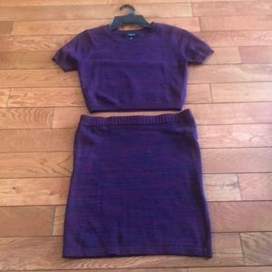 Knit Skirt Set